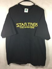 Vintage Star Trek T Shirt Xxl 90's Star Trek The Magazine Black Sci Fi T Shirt