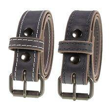 "Men's Genuine Buffalo Leather Belt, 1 1/2"" width, Amish Handmade, Vintage Gray"