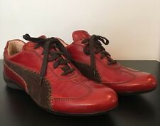 $215 Puma The Black Label Italy Women's Red Leather Brown Suede Shoes 8 W 39