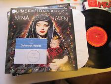 NINA HAGEN nun sex monk rock LP 10 tracks '82 oop vinyl original nunsexmonkrock