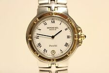 """RETRO SWISS GOLD AND STAINLESS STEEL QUARTZ MEN'S WATCH""""RAYMOND WEIL"""" PERSIFAL"""