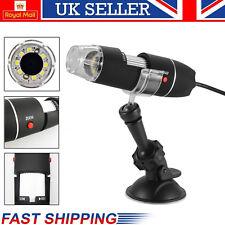 1000X Zoom 8 LED USB Microscope Digital Magnifier Endoscope Camera Video w/Stand