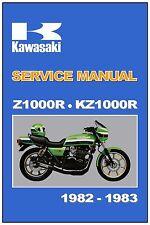 KAWASAKI Workshop Manual KZ1000R Z1000R 1000R Eddie Lawson Replica 1982 and 1983