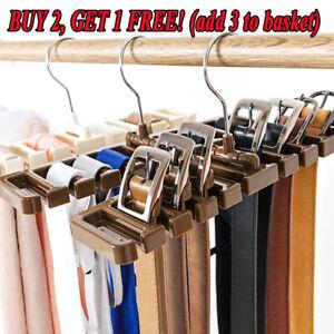 Closet Wardrobe Storage Rack Scarf Tie Belt Organizer Belt Hanger Holder Shelf