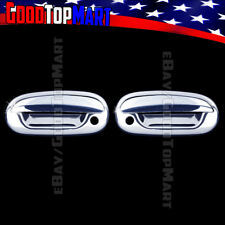 For Ford F150 1997-2001 2002 2003 Chrome 2 Door Handle Covers WITH PS Keyhole