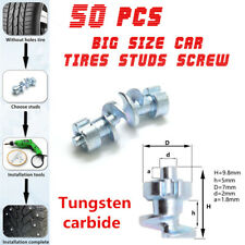 50Pc Big Size Car Tires Studs Screw Snow Spikes Wheel Tyres Snow Chains Grip