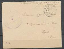1917 Lettre Franchise Cachet Facteur Boîtier de Livet Isère à Paris P1718
