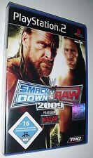 Smack Down vs Raw 2009 featuring ECW nuevo con embalaje original PlayStation 2 juego ps2 Wrestling