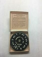 VINTAGE The MASTER Key ROUND Metal PITCH Pipe PAPER Red CASE Information CARD