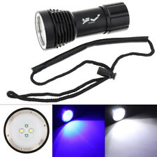 Diving Flashlight Torch Lamp LED Dive Light 8000LM Waterproof Submarine Light