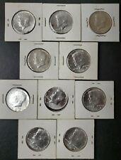 Lot of 10 1964 50c Kennedy Silver Half Dollars