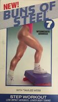 SHIP N 24 HR-Buns of Steel 7-Intermediate/Advanced(VHS,1993)TESTED-RARE VINTAGE