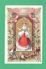 RARE 1870'S MOTHER CHRISTMAS GREETING CARD HOLLY TOYS