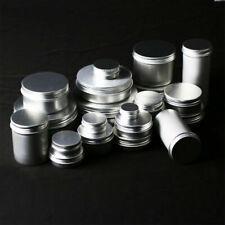 1-100pcs 5-250g пустые алюминиевые косметические банки жестяные контейнер серебряный коробка винт крышка