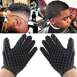 1Pc Double Side Twist Hair Brush Sponge Glove Wave Dread Hair Twisting Curl Tool
