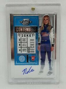 Natalie Decker 2021 Panini Chronicles Contenders Optic NASCAR Auto Racing AUTO