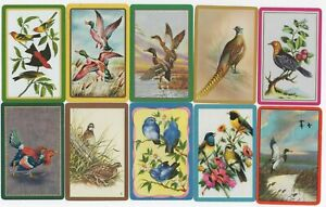 10 BIRDS Swap Playing Cards including DUCKS