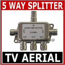 5 VIE TV Digitale Antenna Freeview Coassiale Segnale TV Splitter