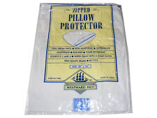 """ZIPPED VINYL PLASTIC WATERPROOF PILLOW PROTECTOR COVER  20"""" x 30"""" NON ALLERGENIC"""