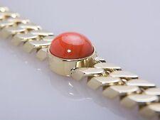 Echtschmuck-Armbänder aus Gelbgold mit Koralle für Damen