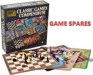 M.Y Traditional Classic Games Compendium - Game SPARES ONLY - New Pieces