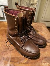 "RUSSELL MOCCASIN LEATHER ""IMPERIAL BOOTS"" MEN'S 8 1/2 EEE 10EE read description"