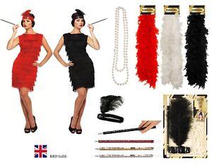 1920s 20s FLAPPER FANCY DRESS COSTUME ACCESSORY Ladies Charleston Sequin Lot UK