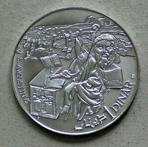 1969 Tunisia, 1 Dinar, Proof, Silver, 0.925/0.5948ASW, KM296