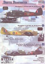 Print Scale Decals 1/72 BRISTOL BEAUFIGHTER British WWII Heavy Fighter