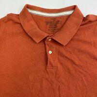 Faded Glory Polo Shirt Mens 3XL XXXL Burnt Orange Short Sleeve Organic Cotton