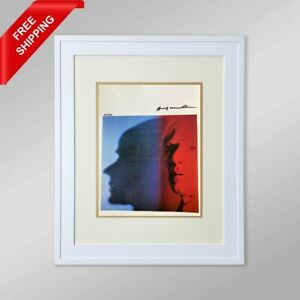 Andy Warhol - The Shadow, Original Hand Signed Print with COA