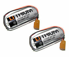 2X TOSHIBA ER17500V 3.6V 2700mAh Battery to power of CNC PLC data backup US
