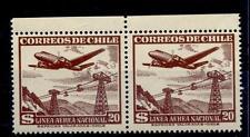 CHILI - CILE - PA - 1950/53 - Serie ordinaria. Aereo e teleferica
