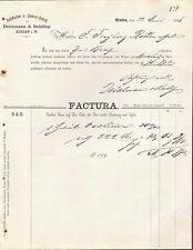 MINDEN i. W., Rechnung 1876, Destillation & Liqueur-Fabrik Deichmann & Rohlfing