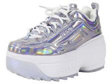 Fila Women's Disruptor-II-Wedge-IRI White/Multi/White Sneakers Shoes
