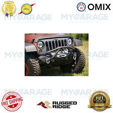 Omix For 76-86 CJ/87-18 Wrangler YJ/TJ/JK XHD Bumper Double X Striker, Black