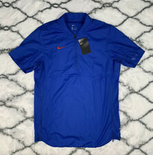 Nike Shield Coaches Pullover Jacket 1/4 Zip Blue Men's Size S *New* Ao5859-495