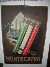 MONTECATINI Tabella Cartoncino LITOGRAFATO Originale 1940 Litografie  Faentine 21778e9e616c