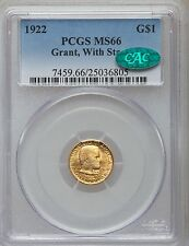 1922 G$1 Grant With Star MS66 PCGS CAC (1089)