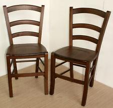 Set 2 sedie paesana seduta legno noce arte povera legno massello rustica coppia