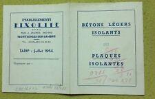 publicité ancienne Etablissements  FIXOLITE à Charleroi 1954 - envoi postal ok