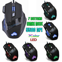 5500 DPI LED Optische USB Verdrahtete Gaming Mouse 7 Tasten Gamer Computer Mäuse