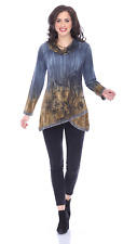NEW Parsley & Sage Plus Fall Winter Artsy Isla Cowl Tunic Blouse Top Shirt 2X