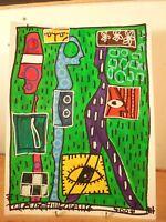 Art Contemporain Art Brut Art Singulier 4004 Oeuvre originale signée JC 20-2-18