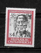 AUSTRIA SC #1339 MINT-UNUSED 1986 O. KOKOSCHKA COMMEMORATIVE SINGLE STAMP