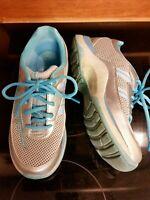 Dansko Women's Sz EU 37/US 6.5 Blue/Silver/Gray Sneakers Walking Shoes lace up