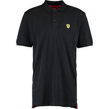 FERRARI Black & Yellow Polo Shirt. Size L.