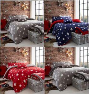 Teddy Bear Fleece Star Luxurious Soft Warm Cosy Duvet Cover Sets Throw ,Cushion
