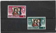 Gibraltar 1972 Silver Wedding Set MNH