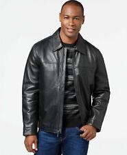 Perry Ellis Portfolio Open Bottom Leather Jacket with Lining Size M
